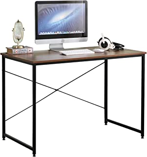 DlandHome Computer-Desk Computer Werkstation PC Gaming Bureau Thuiskant,75x110x60cm