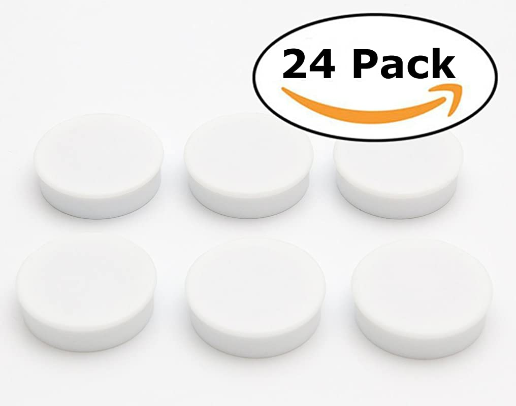 Bullseye Office Magnets 24 Pack White Round Refrigerator Magnets Perfect As Whiteboards Lockers Or Fridge Magnets White