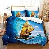 YINGwen Disney Moana Vaiana - Juego de ropa de cama infantil, diseño de anime, 135 x 200 cm (3,150 x 200 cm (50 x 75 cm)