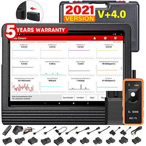 LAUNCH X431 V+ PRO Elite 4.0 (2021 Upgrade of X431 PROS V4.0) Bi-Directional Scan Tool All System Diagnostic Scanner,31+ Reset,Key Program,ECU Online Coding,AutoAuth for FCA SGW,TPMS Gift Free Update