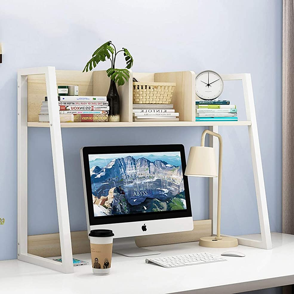 シエスタチェス蒸留CXQ 近代的なミニマリストブックシェルフクリエイティブソリッドウッドフォールホームデスクトップ小冊子クリエイティブストレージラック白単層の本棚