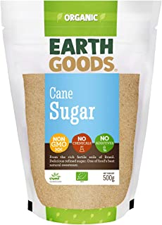 Earth Goods Organic Cane Sugar NON-GMO, NO Chemicals, NO Additives 500g