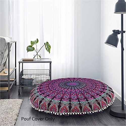 Monika Enterprises Mandala-Bodenkissen/Meditationskissen, 81,3 cm, Violett