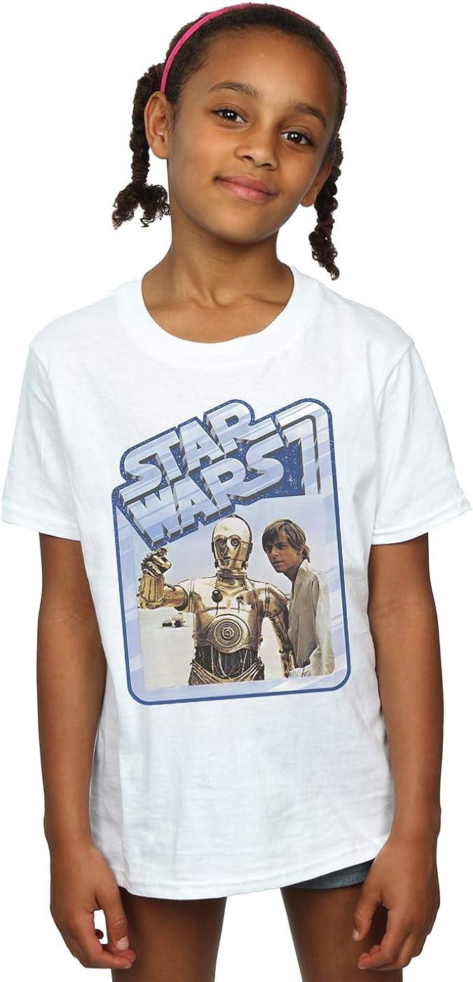 STAR WARS Girls Luke Skywalker and C-3PO T-Shirt 12-13 Years White
