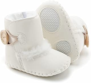 Babelvit Baby Warm Boots Infant Girls Plush Winter Snow Boots Cowboy Tassels Ankle Soft Sole Booties Toddler Newborn First...