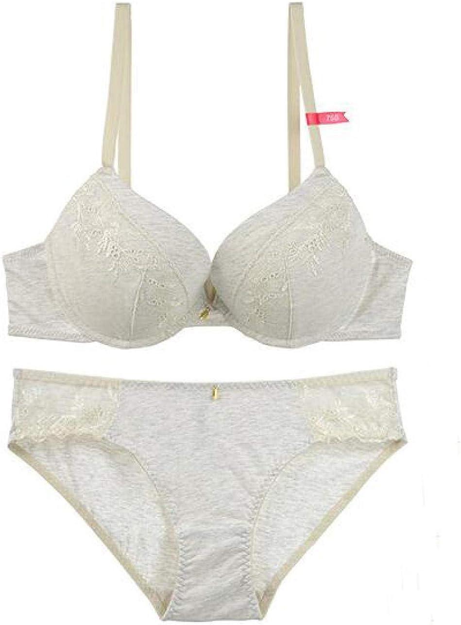 Wire-Free Contour Bra Bras for Women Sexy Bra and Panties Set Embroidery Bra Lingerie Underwear Women