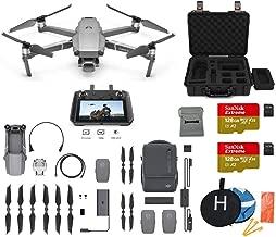 $2599 » DJI Mavic 2 Pro with DJI Smart Controller Fly More Kit Combo Drone Bundle, 2X 128GB SD Card, Landing Pad, Waterproof Hard Carrying Case