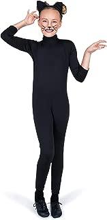Black Cat Costume, Girls Cat Leotard with Tail, Kids