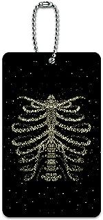 Rib Cage Skeleton Bones Stars Galaxy Luggage Card Suitcase Carry-On ID Tag