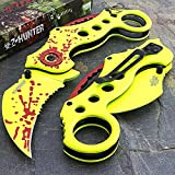 8' ZOMBIE HUNTER Karambit Claw Blade SPRING ASSISTED OPEN Folding Pocket Knife