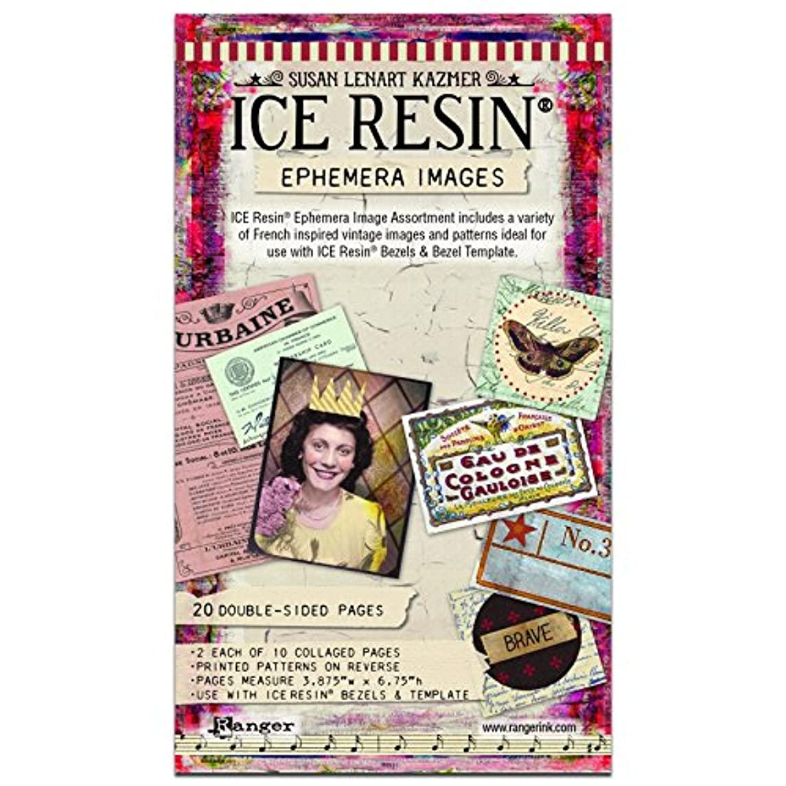 再生罪人実際にIce Resin IRA50469 Ephemera Image Assortment
