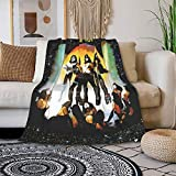 ChenSJZ Retro Rock Band Kiss Love Gun Ge&Ne Simm&Ons All-Season Flannel Blankets for Air-Conditioned Home Use, Super Soft and Comfortable Wool Blankets for Beds and Sofas 60'X50'
