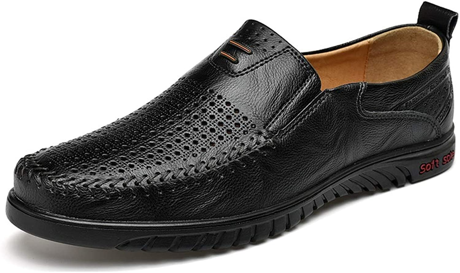 b4fa58995b4c Mens Mens Mens Elegant Buckle Loafers Casual Loafer for Men Hollow ...