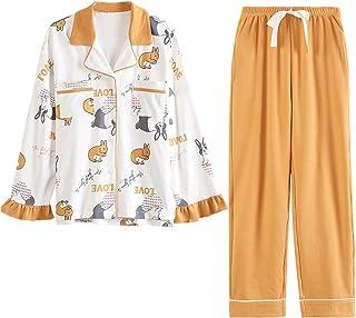 GOSO Pijama para niñas con Estampado de Dibujos Animados y Pantalones Largos, Ropa de Noche para niños de 8 9 10 11 12 13 ...