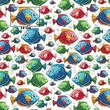 costura de tela 1 metro Tela de algod/ón 100/% de luna dise/ño de animales se vende por metros 100 x 160 cm para ni/ños artesan/ía