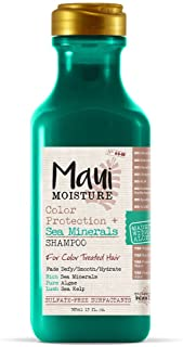 Maui Moisture Color Protection + Sea Minerals Shampoo (13 Ounce); Protect Color-Treated Tresses with Rich Sea Minerals, Pu...
