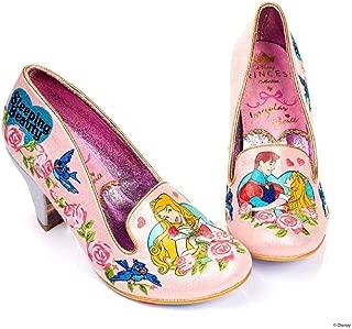 Irregular Choice X Disney Princess Beauty and The Beast Love Breaks All Spells Pump Pink