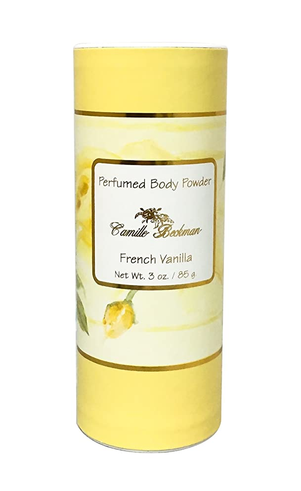 Camille Beckman Perfumed Body Powder, French Vanilla, 3 Ounce