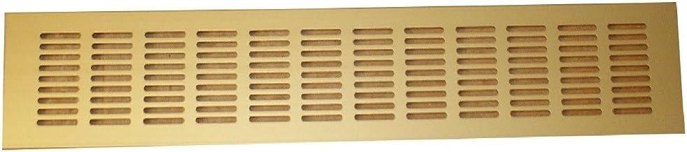 Aluminium ventilatierooster verwarmingsrooster rooster geperforeerde plaat verschillende maten (goud 300x40mm)