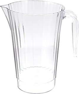 Classicware Rigid Plastic Beverage Pitcher, 50-Ounce Capacity, Clear (40-Count)