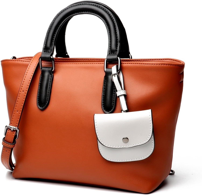 Damen Damen Aufbewahrung Damenhandtasche Farbeblock One Tragbare