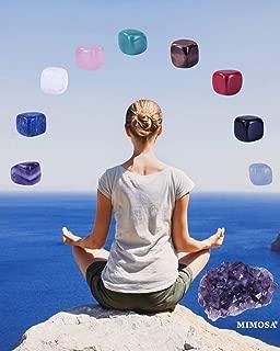 Crystal Energy Healer Set includes Clear Quartz, Rose Quartz,Amethyst,Lapis Lazuli, Green Aventurine, Tiger Eye,Black Obisidian, and Red Jasper,Amethyst Cluster in a Drawstring Bag with Energy Card