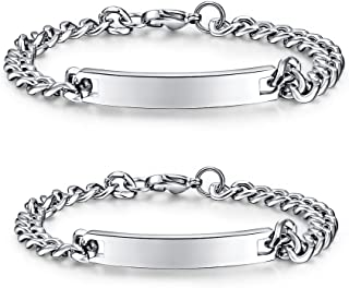 Best stainless steel couple bracelets Reviews