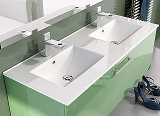 LAVABO SOBRE MUEBLE ART&BATH THIN 2 SENOS 1210X460 (NO