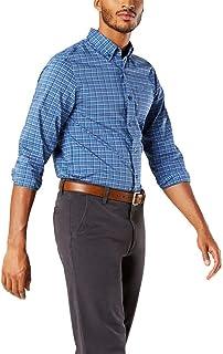 پیراهن بافته شده آستین بلند و شطرنجی مردانه Dockers