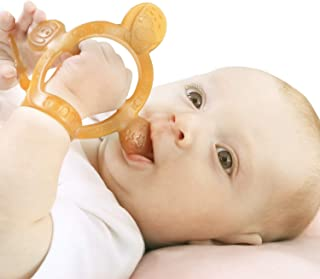 【Never Drop from Hand】HEORSHE Baby Teething Toys for Babies 3-6 Months Teethers for Infants Toddlers Silicone Molars Adjustable Chew Toys for Babies 3 4 5 6 7 8 9 10 11 12 Months