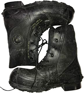 Combat Boot,Mickey Mouse Extreme Cold Weather Boots, Waterproof Rubber, Genuine U.S. Military Issue New Slightly Scuffed