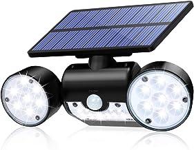 CINOTON Solar Flood Lights Outdoor Motion Sensor 30 LED Solar Light Dual Head Spotlights IP65 Waterproof 360°Rotatable Sol...