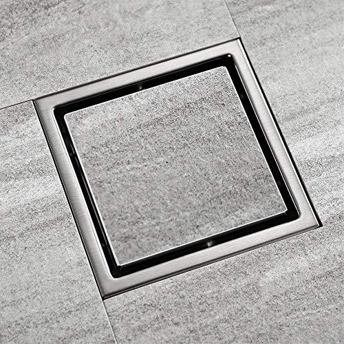 ZXL Vloerafvoer met afneembare afdekking, vierkant roestvrij staal douchebakken, wastafels 100 x 100 mm, lichtnet drainage toiletruimte Lavatory Wasserij Tuin Outdoor keuken