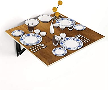 Kawachi Fold Down 3 Seater Wall Mounted Folding Breakfast Dining Table Perfect Addition to Kitchen & Dining Room Beige
