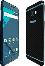 Skinomi Black Carbon Fiber Full Body Skin Compatible with Samsung Galaxy C5 Pro (Full Coverage) TechSkin with Anti-Bubble ...