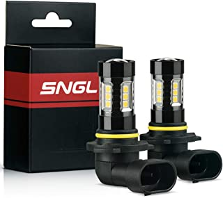 SNGL Super Bright High Power 9006 (HB4) LED Bulbs for Fog Lights - Plug-and-Play - 3000K Gold Yellow (Pack of 2)
