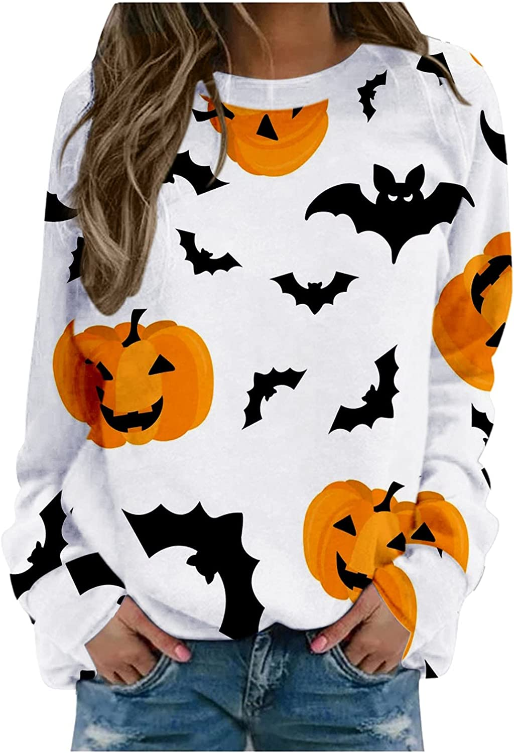 Halloween Some reservation Crewneck Sweatshirt for Our shop OFFers the best service Women Sleeve Tunic Long Casual