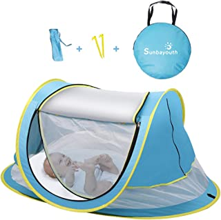SUNBA YOUTH Baby Tent, Portable Baby Travel Bed, UPF 50+ Sun Shelters for Infant, Pop Up Beach Tent, Baby Travel Crib with...