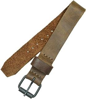 حزام ساعة يد غير قابل للتبديل من الجلد الريفي (20 مم)، وسوار ساعة إكسسوارات، صناعة يدوية يتضمن ضمان لمدة 101 سنة :: بني بو...