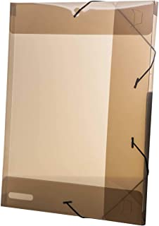 Pasta Aba Elastica Plastica Oficio 20mm Fume Delloline - Pacote com 10, Dello, 0255I.0010, Fume