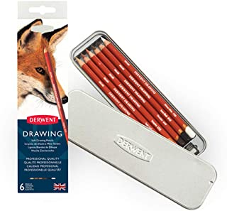 مداد و لوازم جانبی نقاشی Derwent ، نرم ، قلع فلزی ، 6 تعداد (0701089)