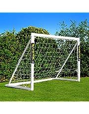 FORZA But de Football PVC pour Le Jardin/Entraînement - Cage de Foot Portable avec Filet & Poteaux Imperméables (6 Tailles) | Système de Verrouillage | Football | Foot