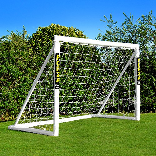 FORZA Football Goal [6ft x 4ft] | Ultimate Kids Garden Goals – 100% Weatherproof PVC | Essential Locking System Design | Optional Target Sheet, Ball & Bag Available