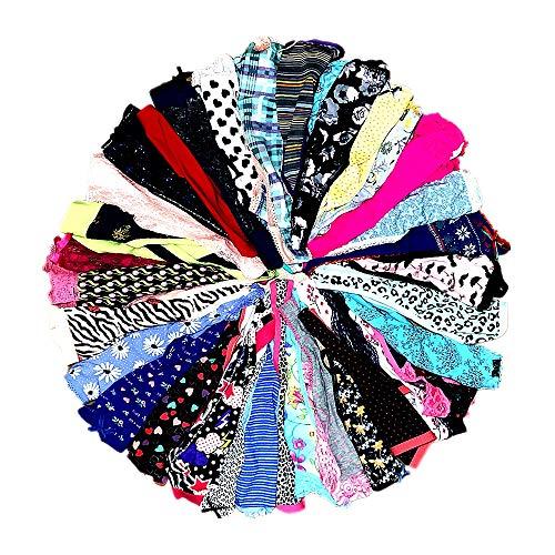 DIRCHO Women Underwear Variety of Panties Pack Lacy Thongs G-strings Cotton Briefs Hipsters Bikinis Undies (20 Pcs, X-Large)