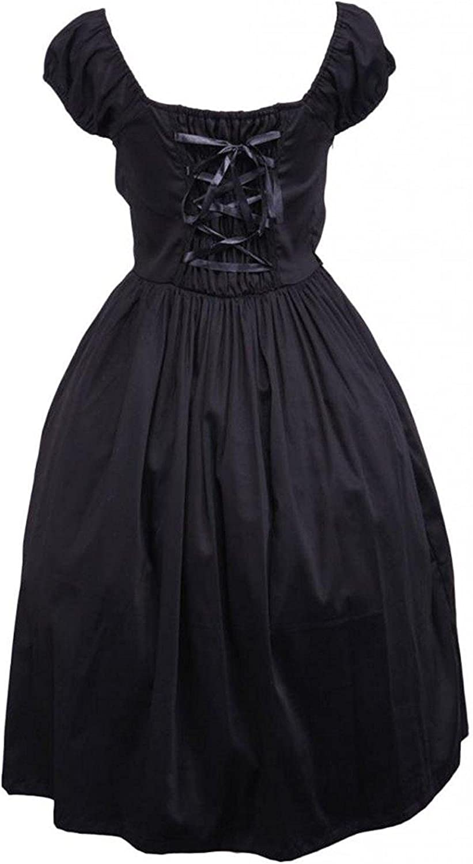 Cemavin Womens Cotton Sweetheart Empire Waist Cotton Classic Lolita Dress