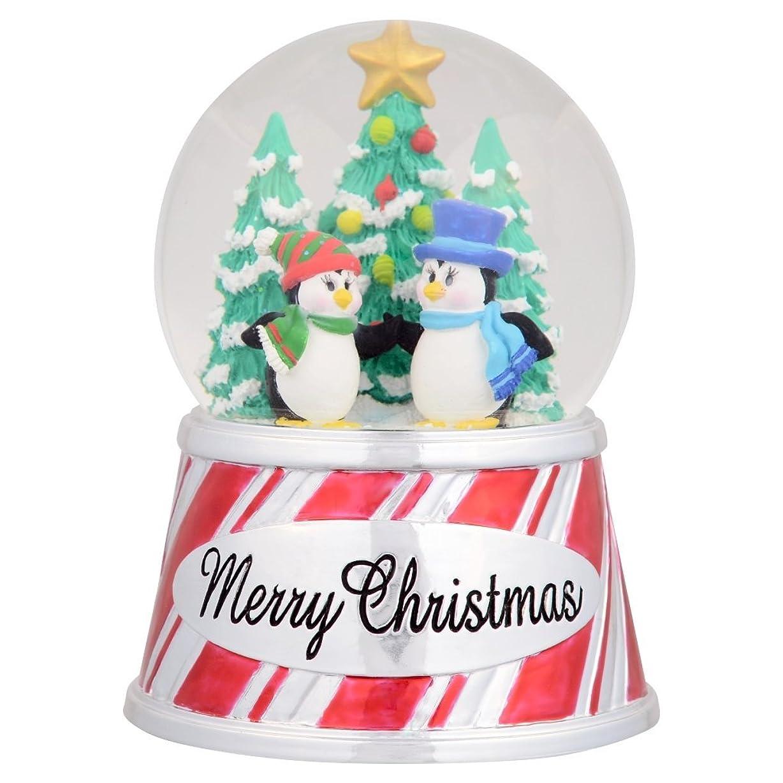 バッジデッキ晩ごはんシーワールドMerry Christmas Penguin Snow Globe