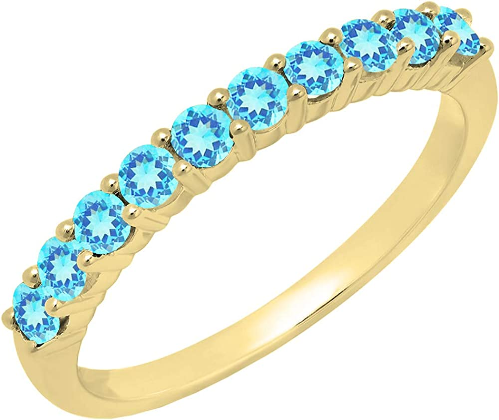 Dazzlingrock Collection 14K Popular Direct stock discount Round Stackable Gemstone Anni Ladies