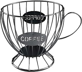 Panier Coffee Porte Capsule Café Design Original Noir - Range capsules Dolce Gusto, Nespresso, Tassimo - Rangement Support...