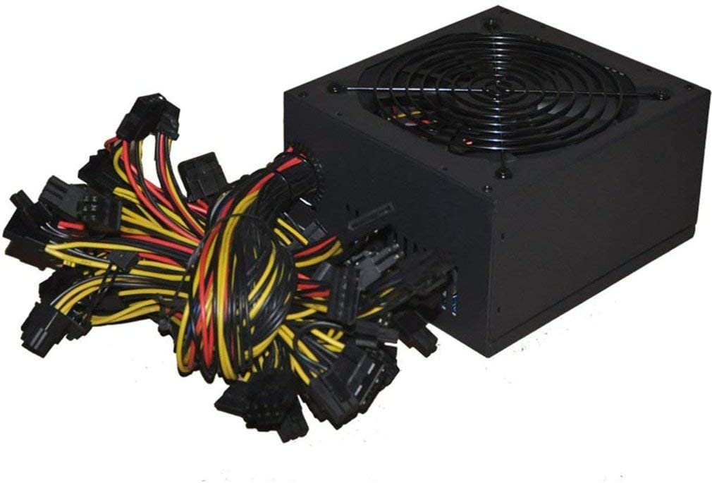 2021new shipping free shipping 1800W ATX Mining PC Power Supply Supports Graphics Card 8 cheap 100-24