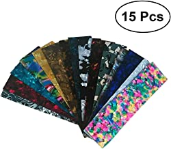 ULTNICE 15pcs Guitar Pick Punch Sheets DIY Celluloid Guitar Pick Strips Random Color